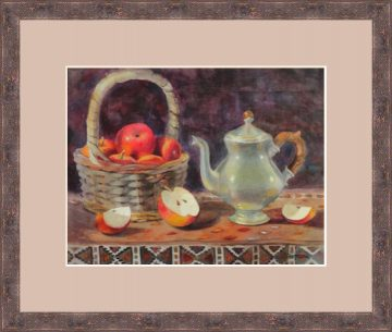 Apple Cinnamon Tea Watercolor - Giclee Print