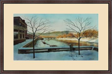 Winter Riverview - Giclee Print