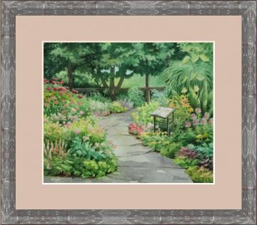 Botanical Gardens at Cornell II Watercolor - Giclee Print